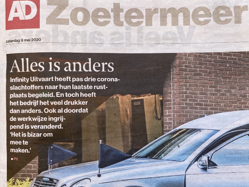 """AD Zoetermeer -  """"Alles is anders"""" -  Interview o.a. met Monique Kupras"""
