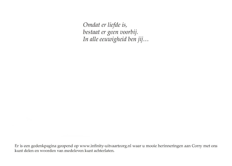 Corry de Graaf - van der Harst, rouwkaart binnenkant links