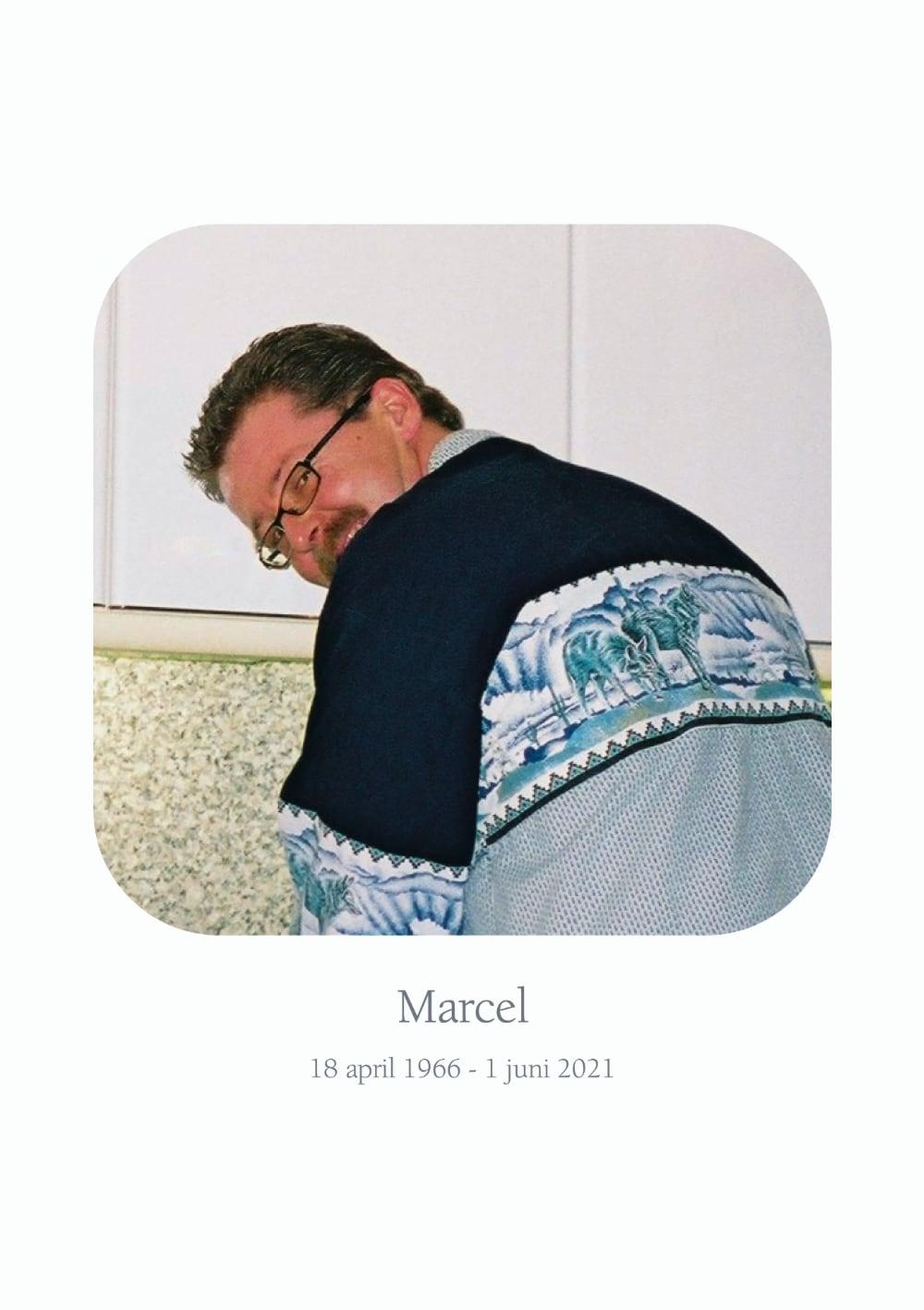Marcel Kuiper, rouwkaart voorkant